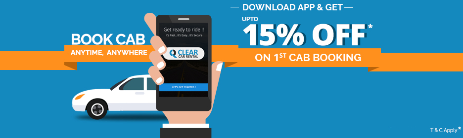 Download Clear Car Rental Android app & get 10% discount on 1st booking