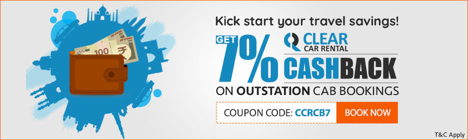 7% cashback on outstation cab bookings